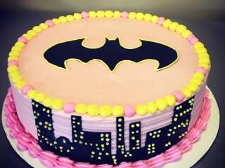 Gluten-Free Batman Cake For 3 Year Old's Birthday