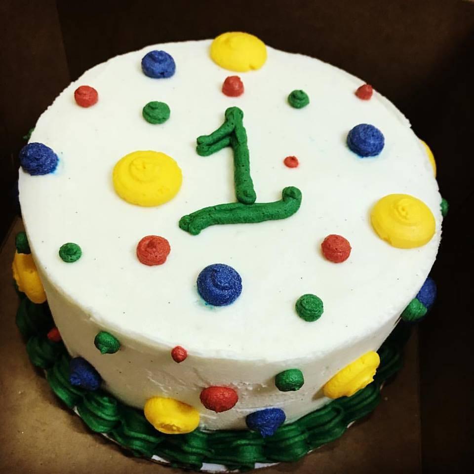 Polka Dot Smash Cake - 1st Birthday (Gluten-Free, Vegan, Soy-Free, Dairy-Free)