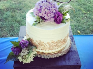 Triple layer, triple flavor wedding cake (Gluten-Free, Vegan, Soy-Free, Dairy-Free)