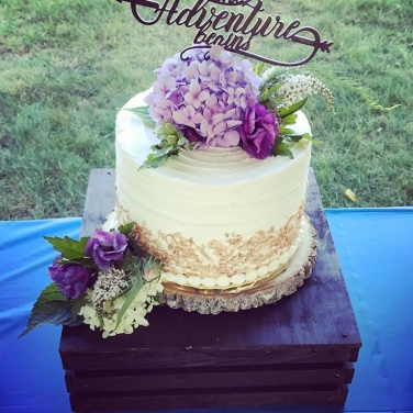 Triple layer, triple flavor wedding cake (Gluten-Free, Vegan, Soy-Free, Dairy-Free)