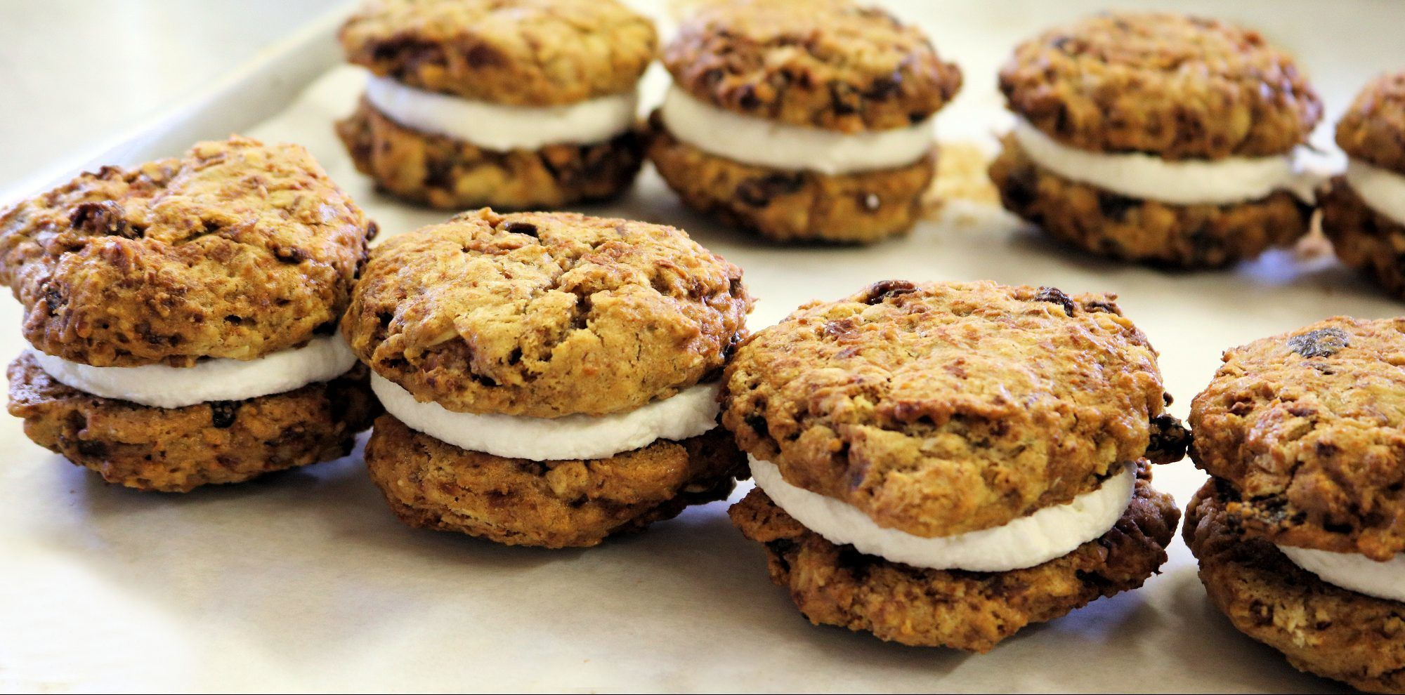 Gluten Free Oatmeal Raisin Cream Pies | Third Coast Bakery