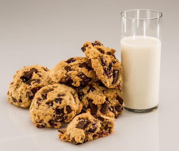 Third Coast Bakery - Gluten Free Cherry Chunky Dunkers and Milk