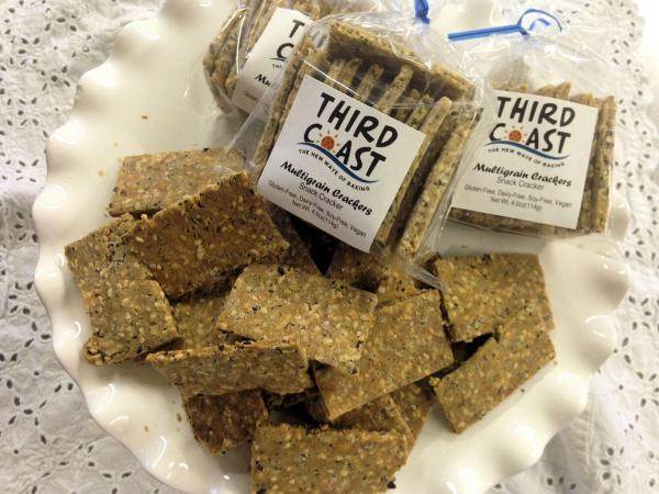 Multigrain Crackers by Third Coast Bakery - Gluten Free Multigrain Crackers