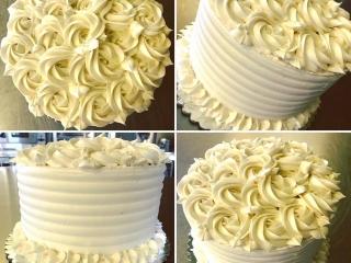 Three layer chocolate wedding cake with vanilla bean pastry cream and raspberry (Gluten-Free, Vegan, Soy-Free, Dairy-Free)