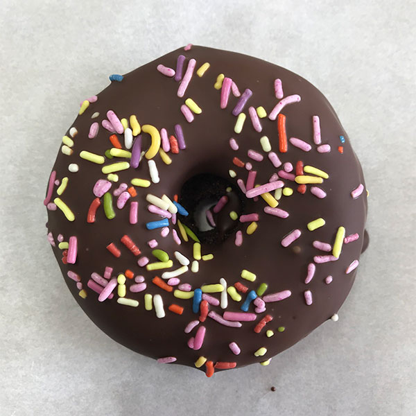 Double Chocolate with Sprinkles Gluten Free Donut